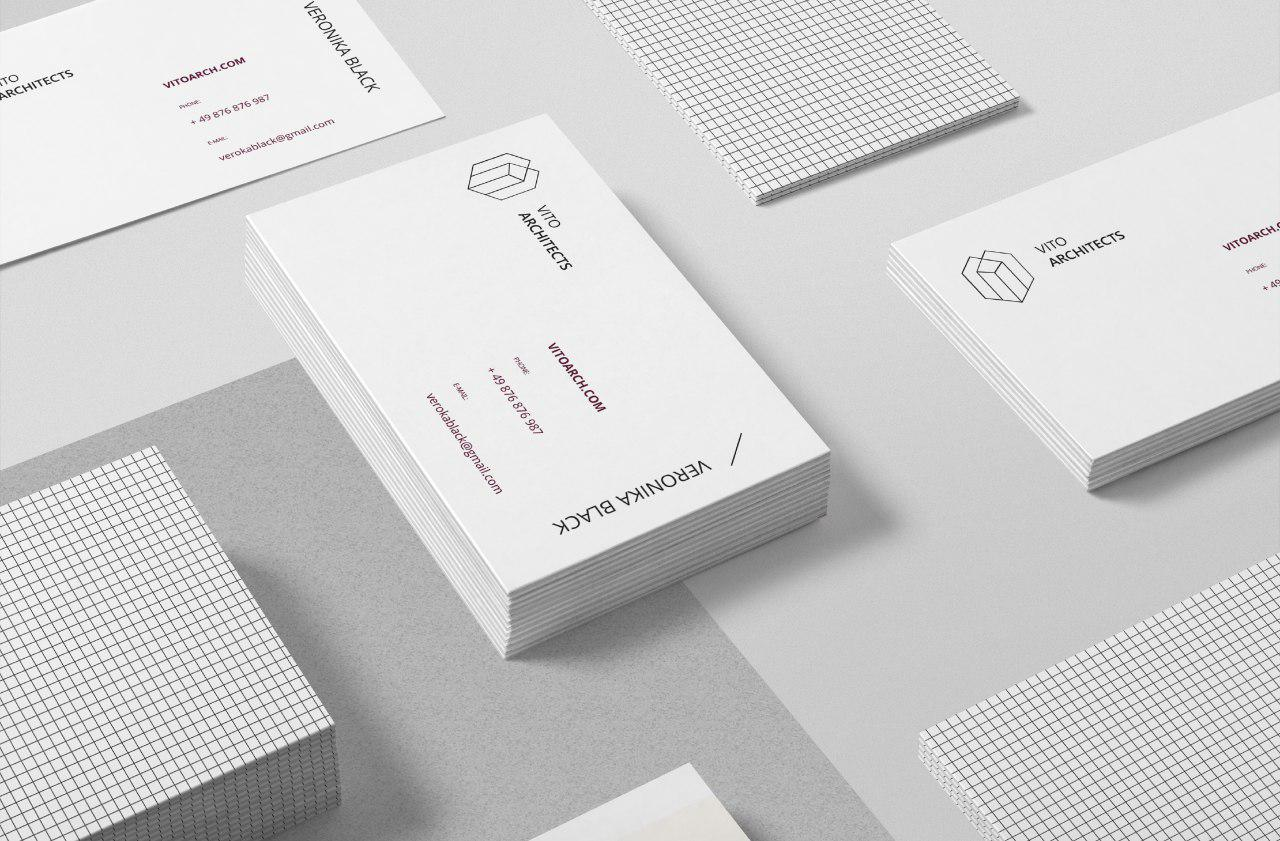 Development of business cards - individual design