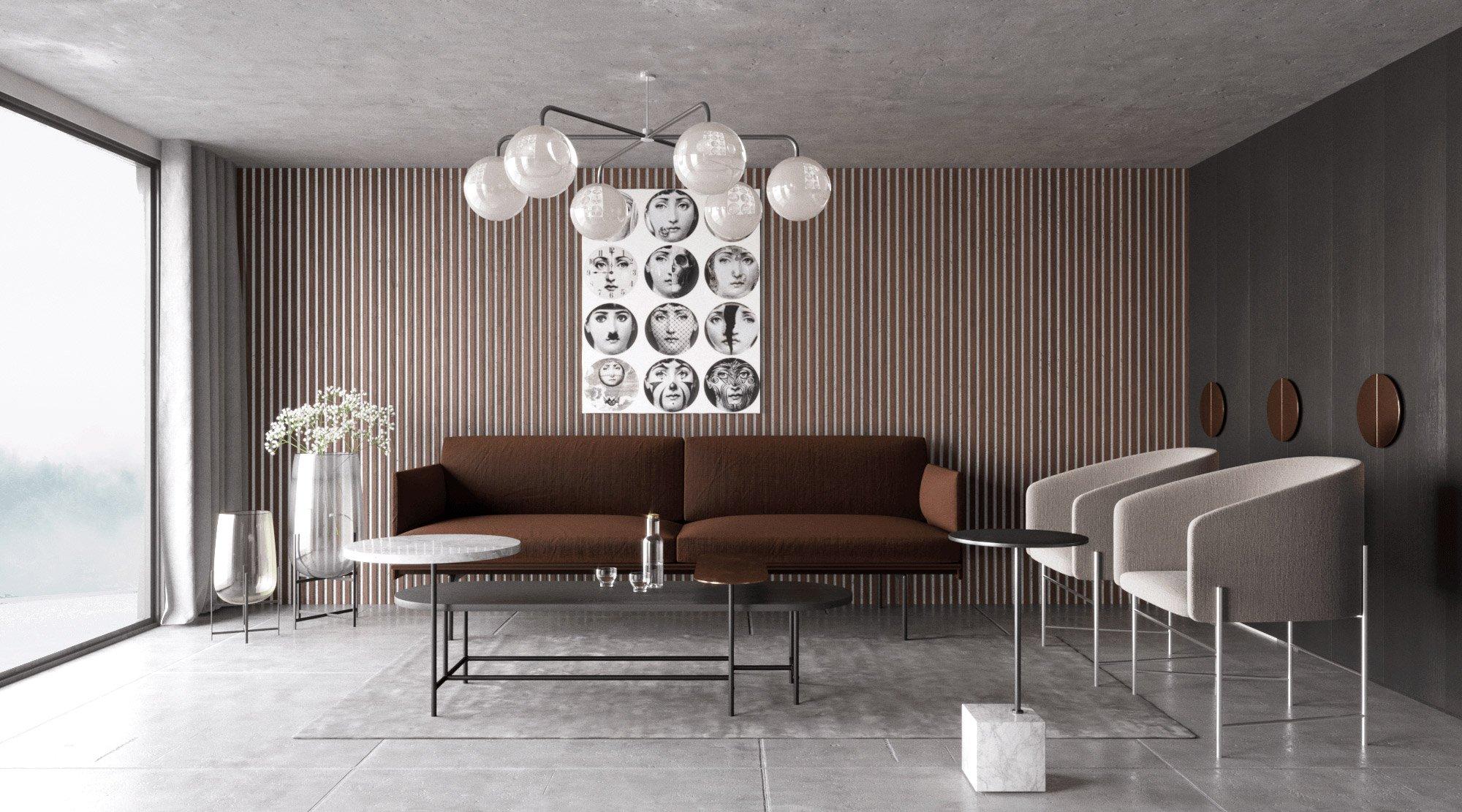 Salon z nowoczesnym wystrojem