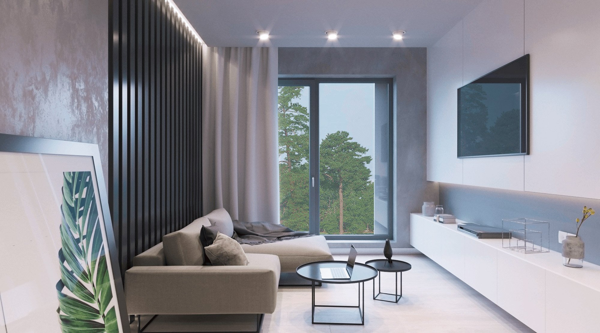 Stylish interior design living room