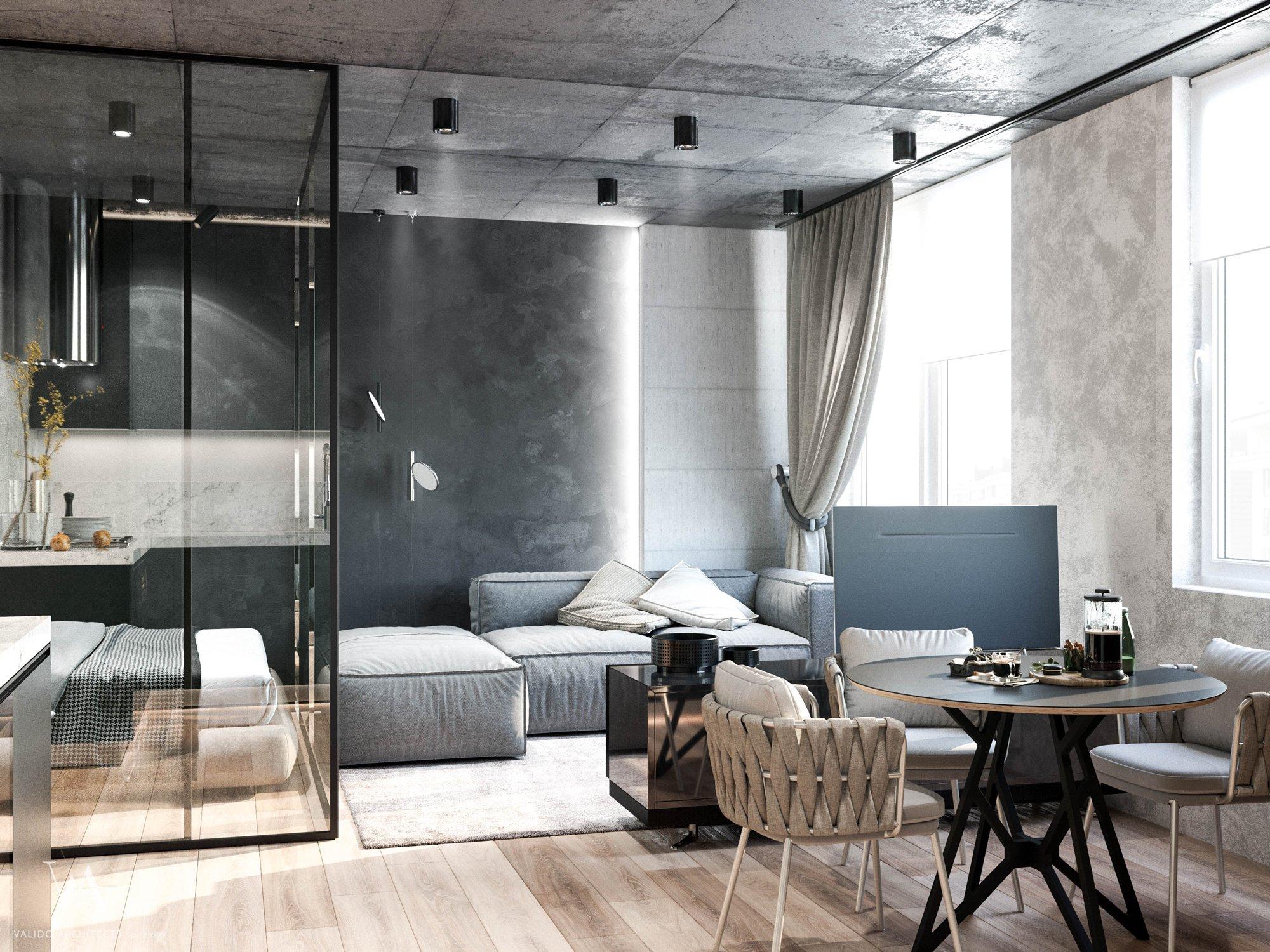 Nowoczesny apartament typu studio