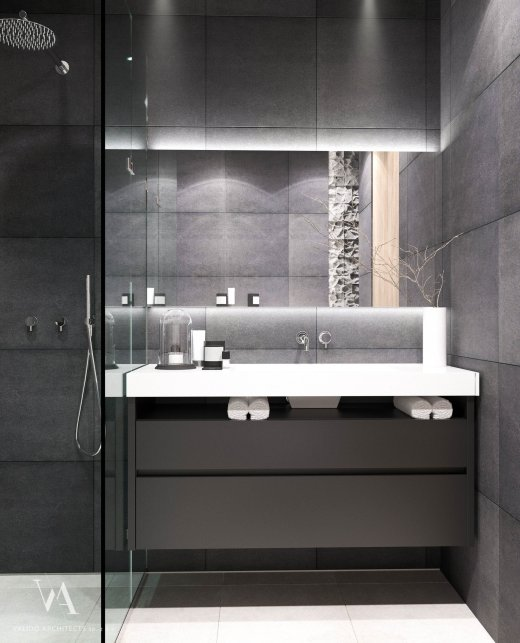 Bathroom in gray tones photo