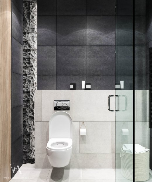 Bathroom in gray tones