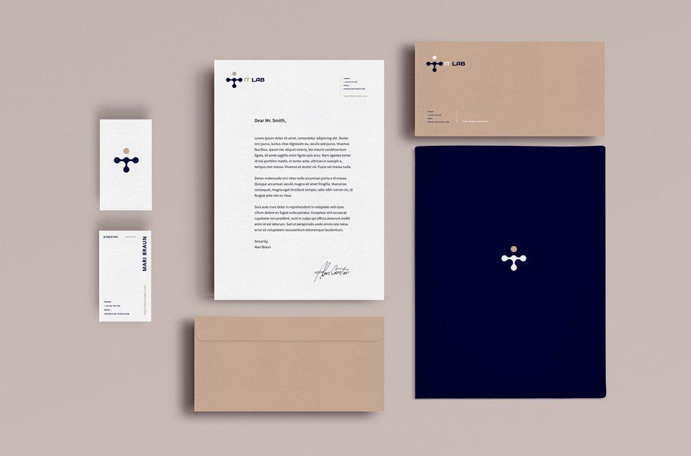 Визуальная идентификация фирмы - брендинг, брошюры, логотип, бизнес-папки, визитки | Valido Architects