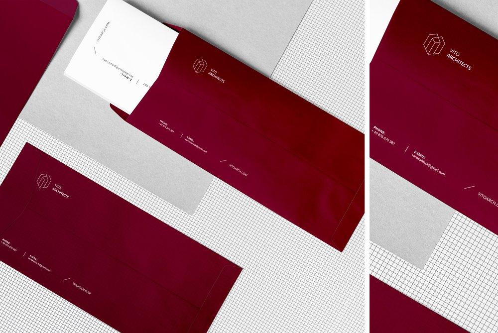 Корпоративный брендинг: дизайн конвертов с логотипом компании