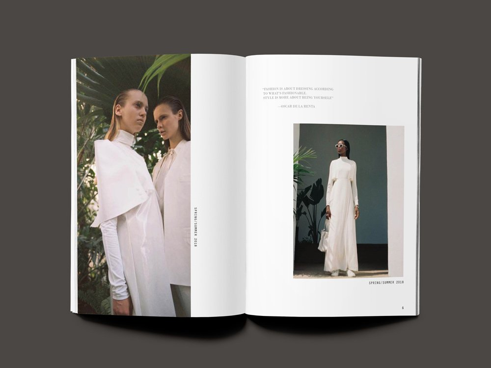 Clothing and fashion catalog design
